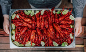 Traditional Swedish Crayfish Party